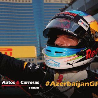 #F1 Ricciardo brinda en Baku mientras empieza la guerra