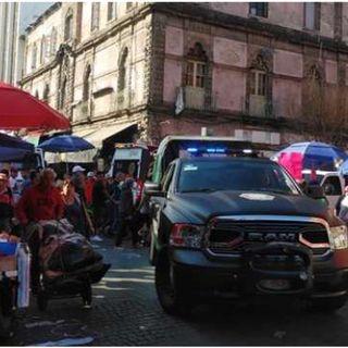 Cinco muertos y dos heridos deja balacera en Centro histórico