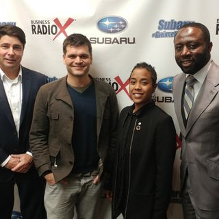 Jerrica Rai Whitlock & Greg Kerr with Global One Village and Solomon Sogunro with Inner Touch Digital Marketing