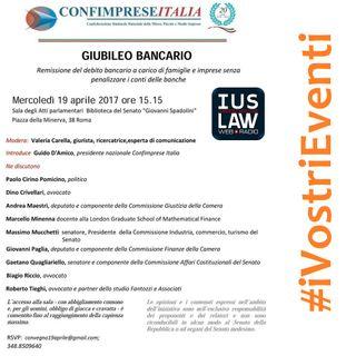 Giubileo Bancario - Convegno organizzato da ConfImprese Italia