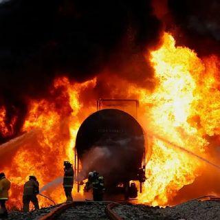 Autoridades investigan las causas que originaron el incendio de un furgón de Ferrocarril en Saltillo, Coahuila