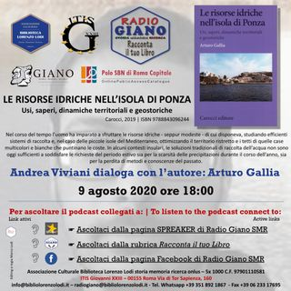 LE RISORSE IDRICHE DI PONZA | Andrea Viviani dialoga con l'autore : Arturo Gallia