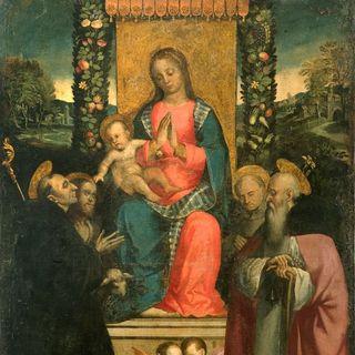 Francesco Verla, Madonna con Gesù Bambino in trono e santi