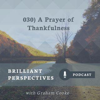 A Prayer of Thankfulness