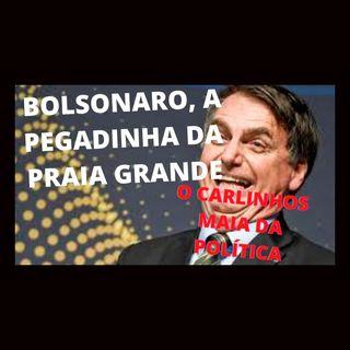 Bolsonaro e a pegadinha da Praia Grande. O clone de Silvio Santos e Carlinhos Maia na política