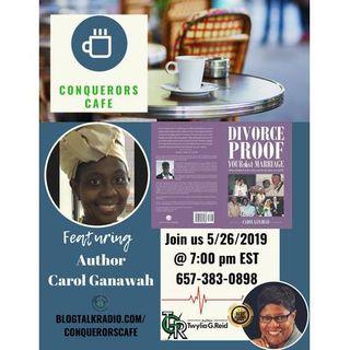 Conquerors Cafe Author Spotlight Featuring Author Carol Ganawah