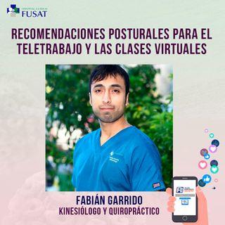 Jueves 13: Fabián Garrido, Kinesiólogo y Quiropráctico — Recomendaciones posturales para el teletrabajo y las clases virtuales