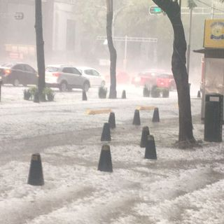 Se registra fuerte lluvia en la CDMX