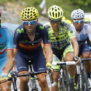 Las lágrimas de Alejandro Valverde al confirmar su podio