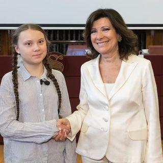 Il viaggio di Greta Thunberg a Roma contro i cambiamenti climatici