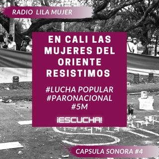 Càpsula 4. Mayo 5 Paro Nacional Colombia. En Cali las mujeres del Oriente resistimos