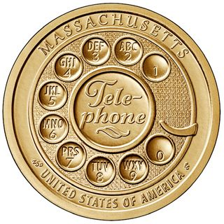 New design on 2020 MA commemorative $1 coin honors the invention of the telephone