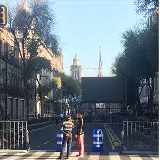 Están cerradas las calles aledañas al Zócalo