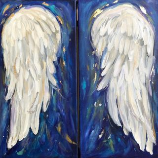 You are a spirit created human - two white wings