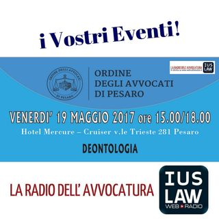 Deontologia - #iVostriEventi #Pesaro