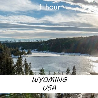 Wyoming, USA | 1 hour RIVER Sound Podcast | White Noise | ASMR sounds for deep Sleep | Relax | Meditation | Colicky