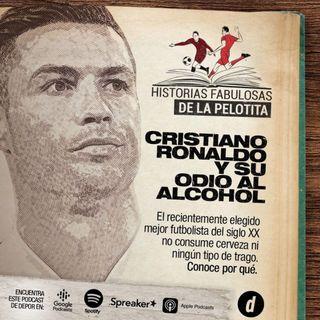 ¡Cristiano Ronaldo, enemigo del alcohol!