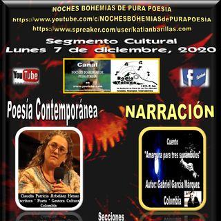 Radio Volcán - Segmento Cultural NBPP del lunes 7, miércoles 9 y viernes 11 de diciembre, 2020