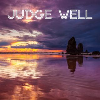 Judge Well —with lake waves