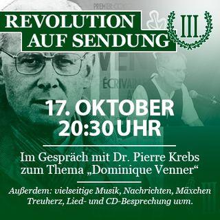 """Revolution auf Sendung #024 - 17. Oktober 2019 - Im Gespräch mit Dr. Pierre Krebs zum Thema """"Dominique Venner"""""""