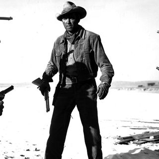 Jimmy Stewart As 'The Six Shooter'