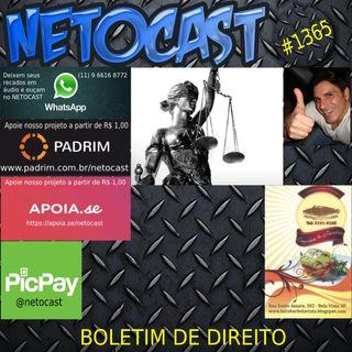 NETOCAST 1365 DE 19/10/2020 - BOLETIM DE DIREITO