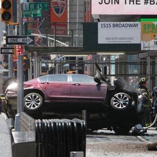 Car Strikes People In Times Square