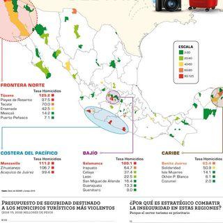 Cancún y Acapulco entre los más violentos