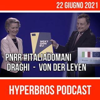 PNRR, Conferenza stampa congiunta di Mario Draghi e Ursula von der Leyen da Cinecittà
