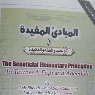 Lesson 2 - The Beneficial Principles in Tawheed, Fiqh & Aqeedah