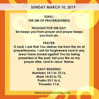 The Sin of Prayerlessness