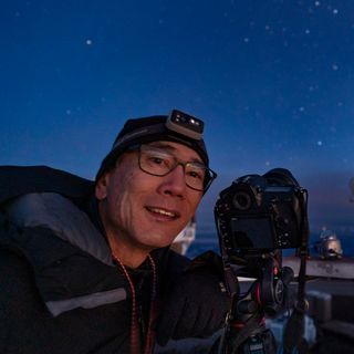 Photographer Stan Honda in Haleakala National Park