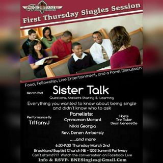 First Thursday Single Sessions: Sister Talk