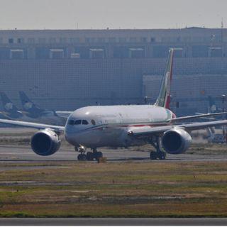 Arribó a la Ciudad de México, el avión presidencial
