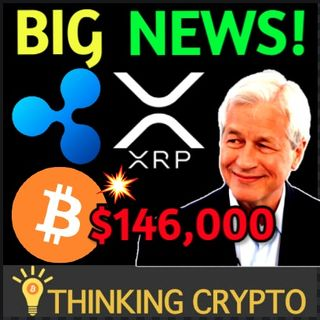 XRP Removed From Grayscale Fund & Tetragon Ripple Lawsuit - JP Morgan $146K Bitcoin Price Prediction