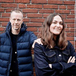 'Når ildsjæle mødes': Melissa Bech og Mads Nørgaard.