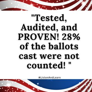 What? 28% of the ballots cast were not counted? #WTF