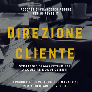 """Tre pilastri del marketing per vendere"""