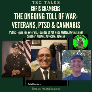 TSC Talks! The Ongoing Toll of War-Veterans, PTSD & Cannabis, with Chris Chambers, Purple Heart Vietnam Vet, Founder~Vet Meds Matter