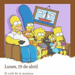 Lunes, 19 de abril. Aparecen los Simpsons