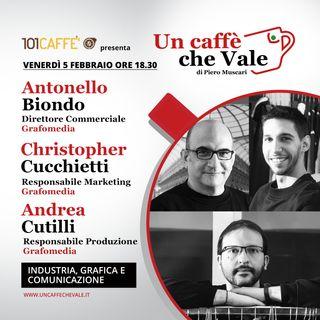Antonello Biondo, Christopher Cucchietti e Andrea Cutilli: Industria, grafica e comunicazione