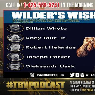 ☎️Deontay Wilders 5 Fight Wish List🔥Which is The Fight You want Most❓