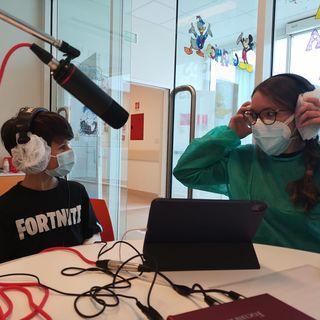 Samuele dalla sala giochi dell'ospedale dei bambini di Parma