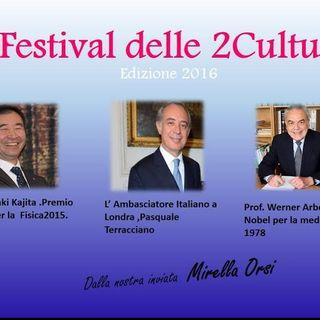 Evento Le 2culture  - Ambasciatore Pasquale Terracciano. Presidente di Biogem e il premio Nobel Werner Arber