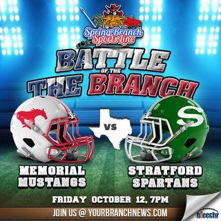 Stratford Spartans vs Memorial Mustangs