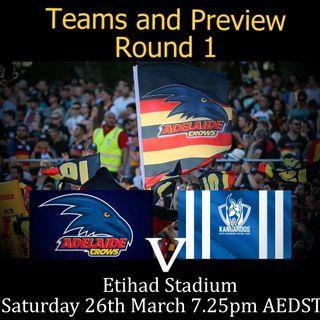 Preview - Round 1, 2016 v North Melbourne