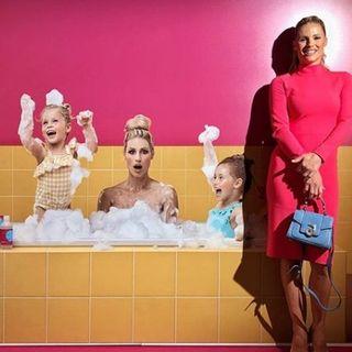 MICHELLE HUNZIKER  come imprenditrice con i suoi prodotti Naturali GOOVI fatti per tutta la famiglia