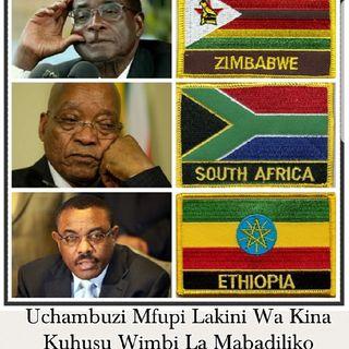Uchambuzi Mfupi Lakini Wa Kina Kuhusu Wimbi La Mabadiliko Zimbabwe, Afrika Kusini Na Ethiopia