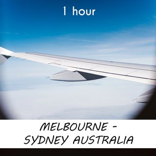 Melbourne - Sydney | 1 hour AIRPLANE Sound Podcast | White Noise | ASMR sounds for deep Sleep | Relax | Meditation | Colicky