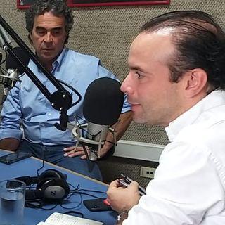 Alejandro Eder y Sergio Fajardo en Javeriana Estéreo Cali
